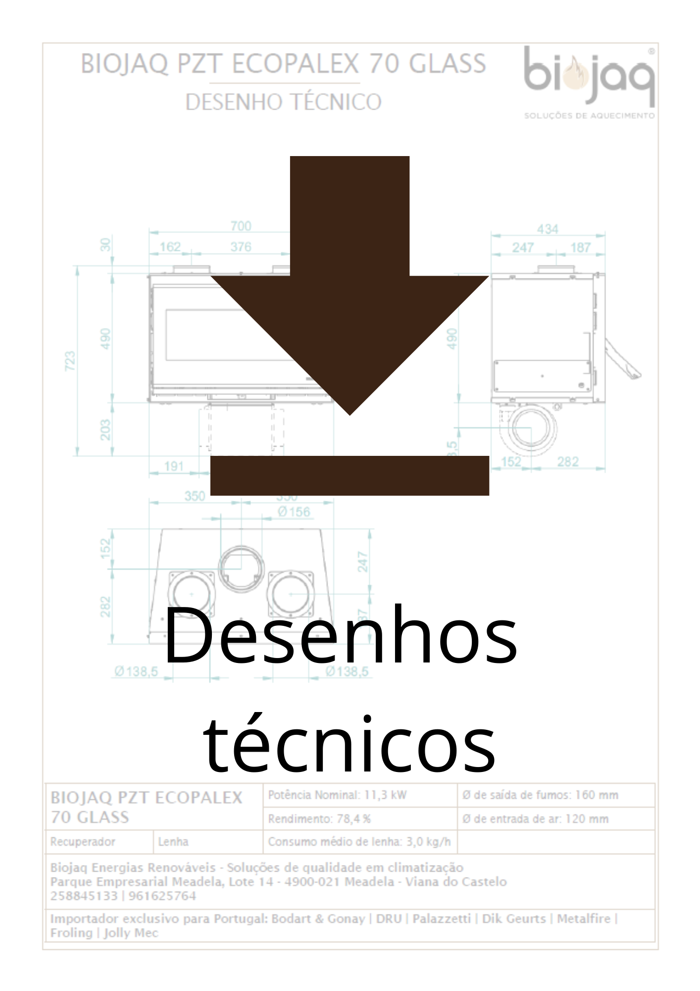 Desenhos técnicos dos equipamentos