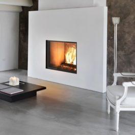 Recuperador de calor a lenha para aquecimento de ar com porta de guilhotina BIOJAQ JM AERJOLLY 80 EVO