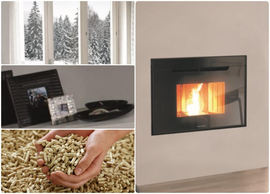 Detalhes do recuperador de calor a pellets BIOJAQ JM Synthesis Modular - Design elegante e aquecimento cómodo!