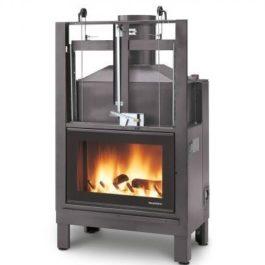 recuperador de calor a lenha para aquecimento central BIOJAQ PZT 86 FERRO FUNDIDO