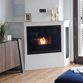 recuperador de calor a pellets para aquecimento central BIOJAQ PZT EMPOTRABLE
