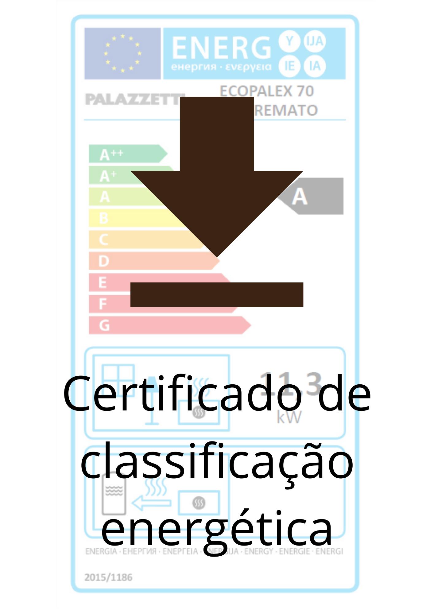 certificados de classificação energética dos equipamentos