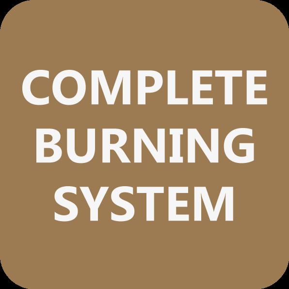 A tecnologia mais recente permite ao equipamento uma combustão total e de autolimpeza, tudo graças ao seu sistema de pós-combustão.