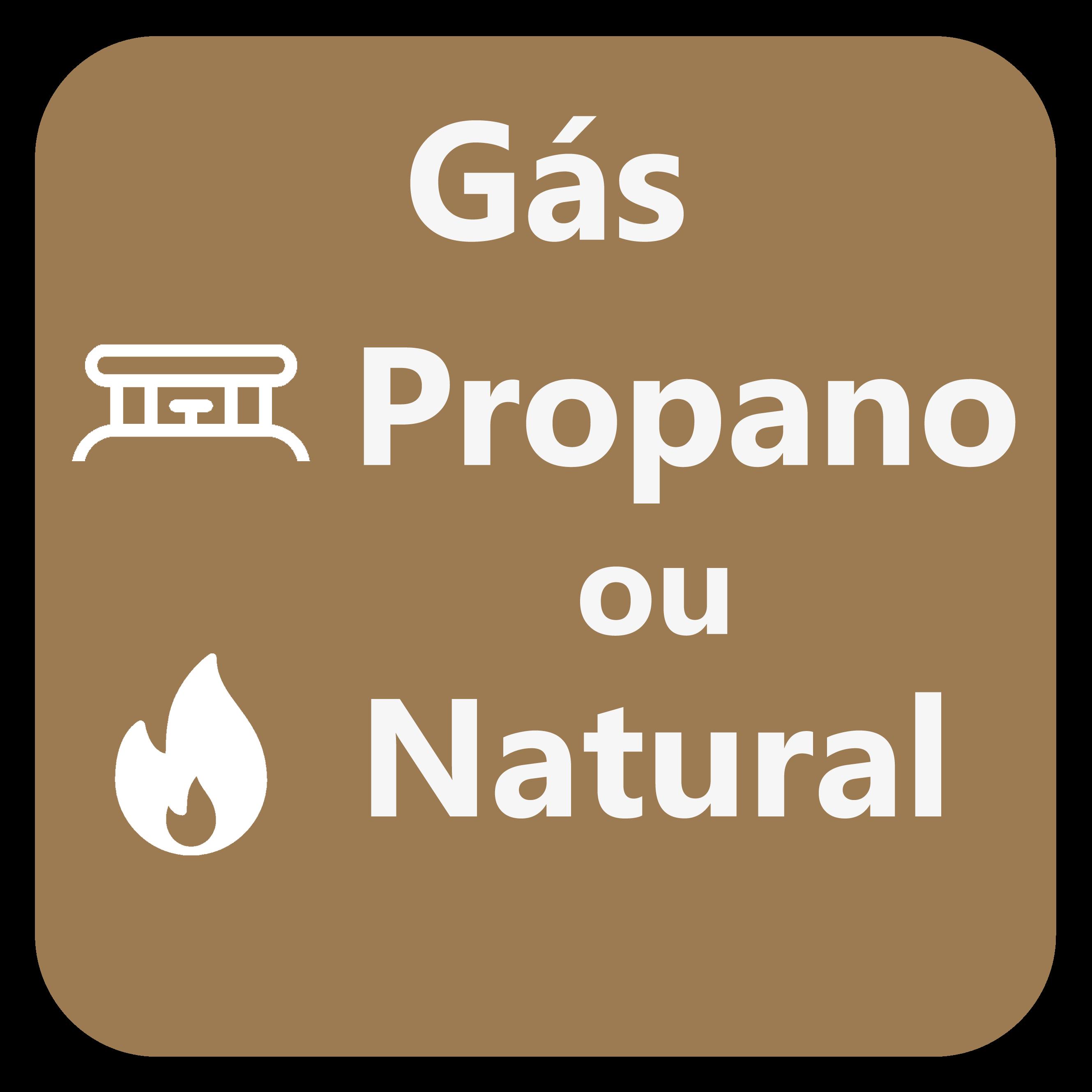 O equipamento pode ser preparado para trabalhar com gás natural ou propano, consoante a necessidade do utilizador.
